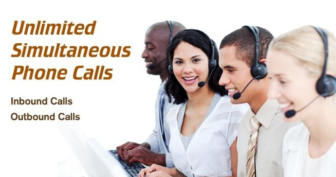 Unlimited Simultaneous phone calls